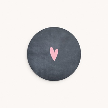 Sticker Enveloppe Naissance Ardoise jumelles, Bienvenue bébés personnalisé