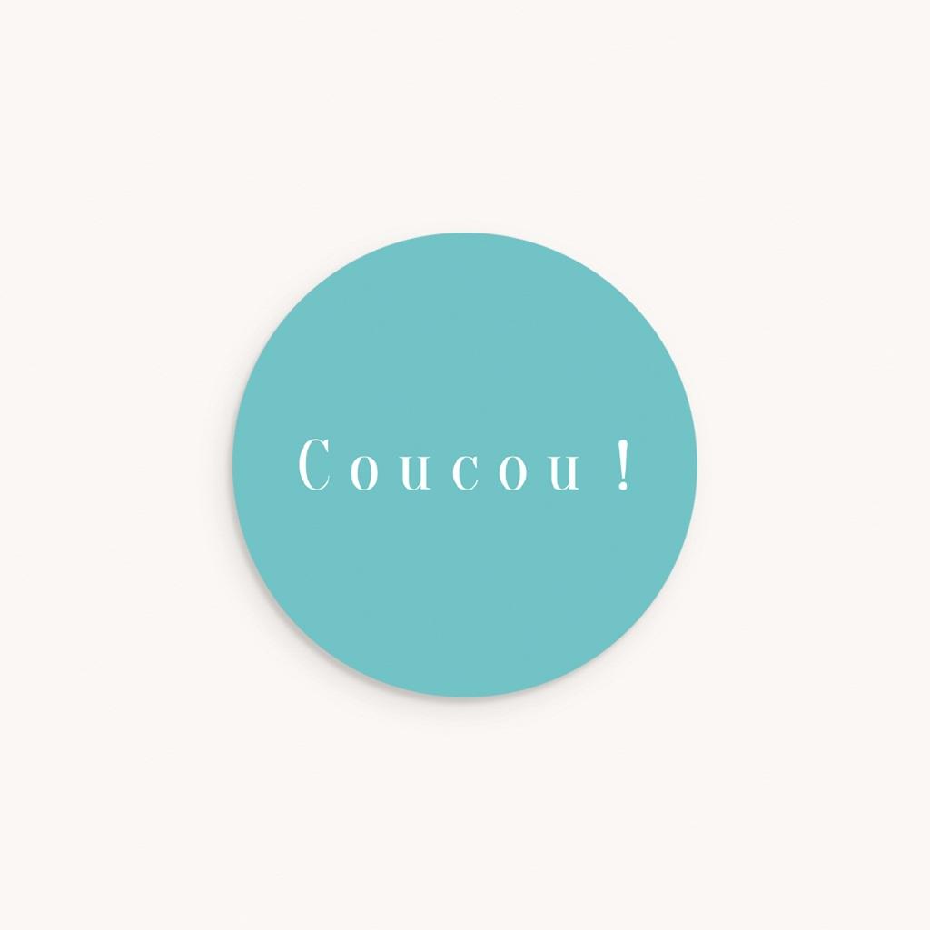 Sticker Enveloppe Naissance Ardoise Fantaisie, Nuage bleu