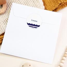 Sticker Enveloppe Naissance Rose Marine pas cher