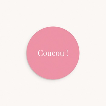 Sticker Enveloppe Naissance Ardoise Fille, Welcome