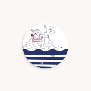 Sticker Enveloppe Naissance P'tit Pirate personnalisé