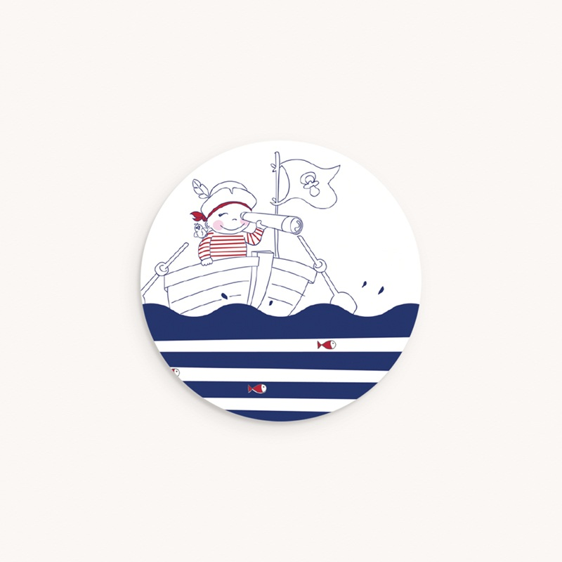 Sticker Enveloppe Naissance P'tit Pirate