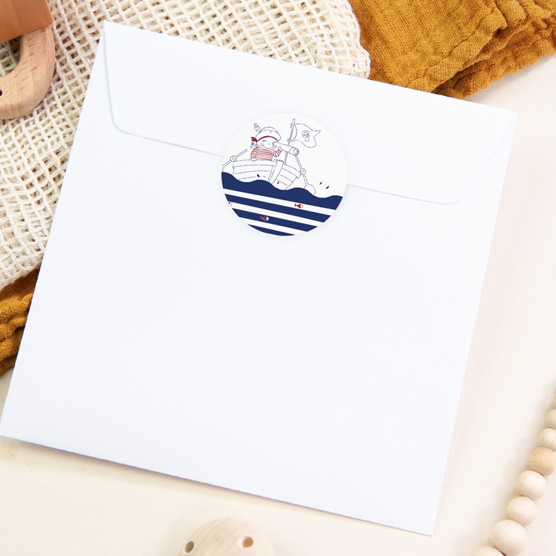 Sticker Enveloppe Naissance P'tit Pirate pas cher