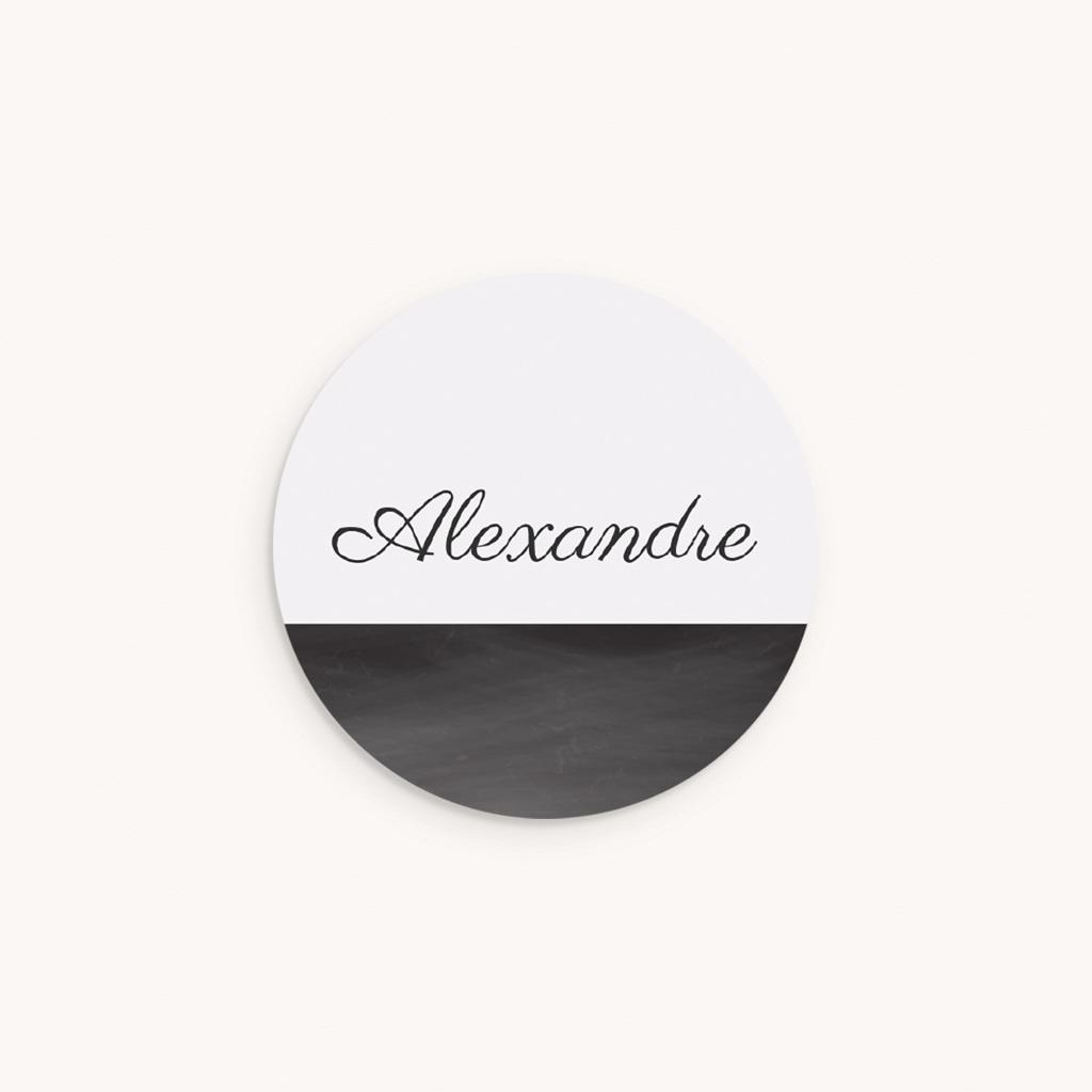 Sticker Enveloppe Naissance Mensurations Garçon, Ardoise