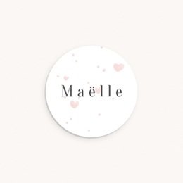 Sticker Enveloppe Naissance Mon Coeur rosé