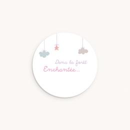 Sticker Enveloppe Naissance Forêt Enchantée, 4,5 cm