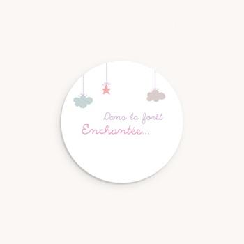Sticker Enveloppe Naissance Forêt Enchantée, 4,5 cm pas cher