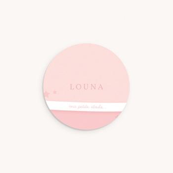 Sticker Enveloppe Naissance Tendresse rose pastel original