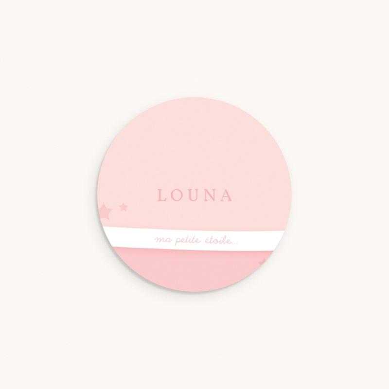 Sticker Enveloppe Naissance Tendresse rose pastel
