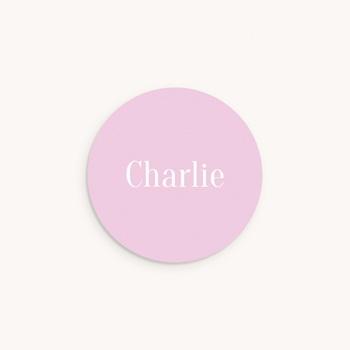 Sticker Enveloppe Naissance Merveille rose, Prénom pas cher