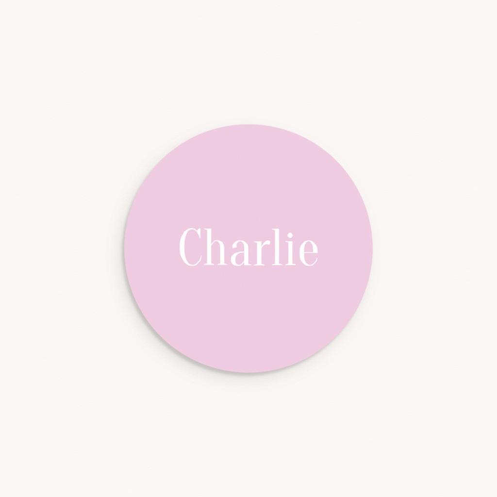 Sticker Enveloppe Naissance Merveille rose, Prénom