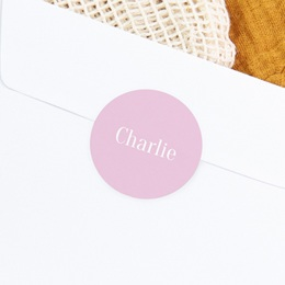 Sticker Enveloppe Naissance Merveille rose, Prénom gratuit