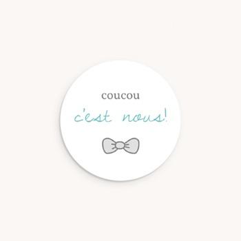 Sticker Enveloppe Naissance Petit Mot Charmant Jumeaux pas cher