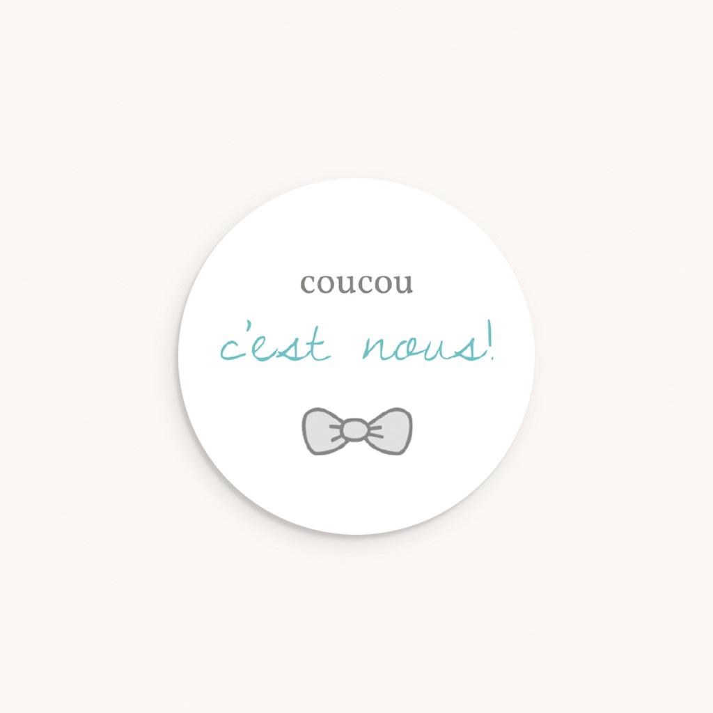 Sticker Enveloppe Naissance Petit Mot Charmant Jumeaux