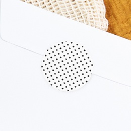 Sticker Enveloppe Naissance Polka coeurs et pois gratuit