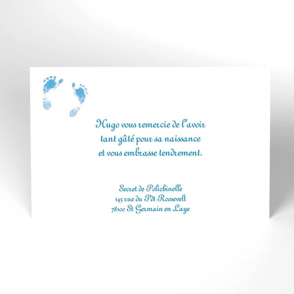 Carte de Remerciement Naissance Bleuet