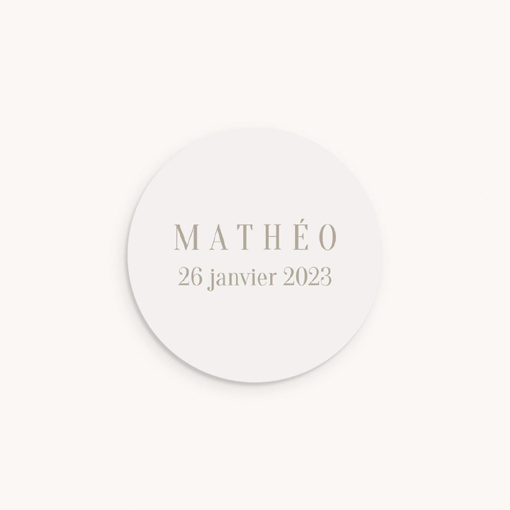 Sticker Enveloppe Naissance Cheval à bascule, beige