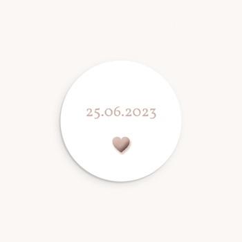 Sticker Enveloppe Naissance Coeur sepia, sticker pas cher