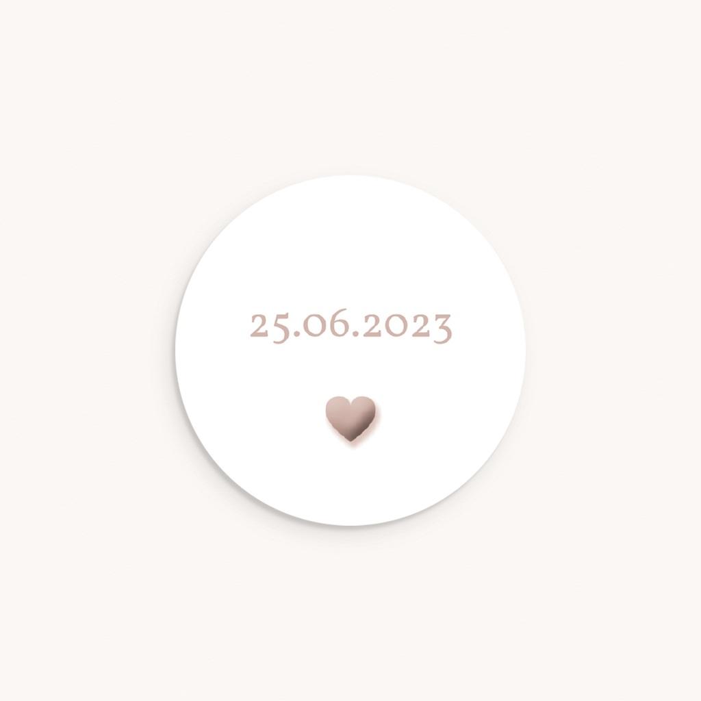 Sticker Enveloppe Naissance Coeur sepia, sticker