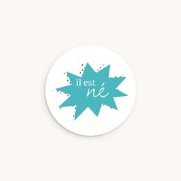 Sticker Enveloppe Naissance Super-héros, bleu