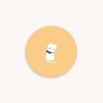 Sticker Enveloppe Naissance Chaton jaune, 4,5 cm original