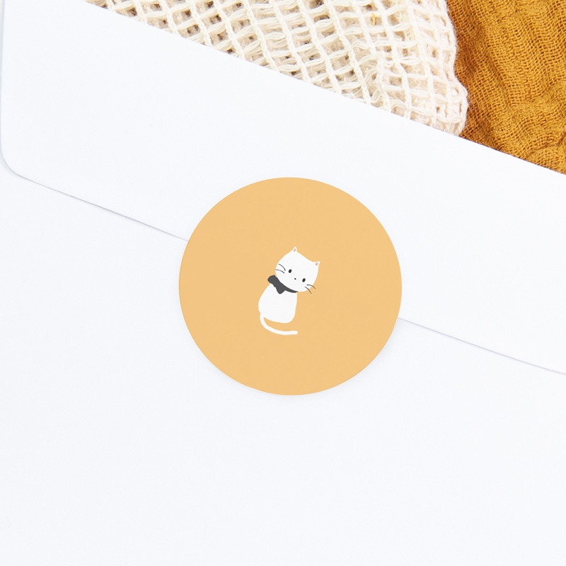 Sticker Enveloppe Naissance Chaton jaune, 4,5 cm gratuit
