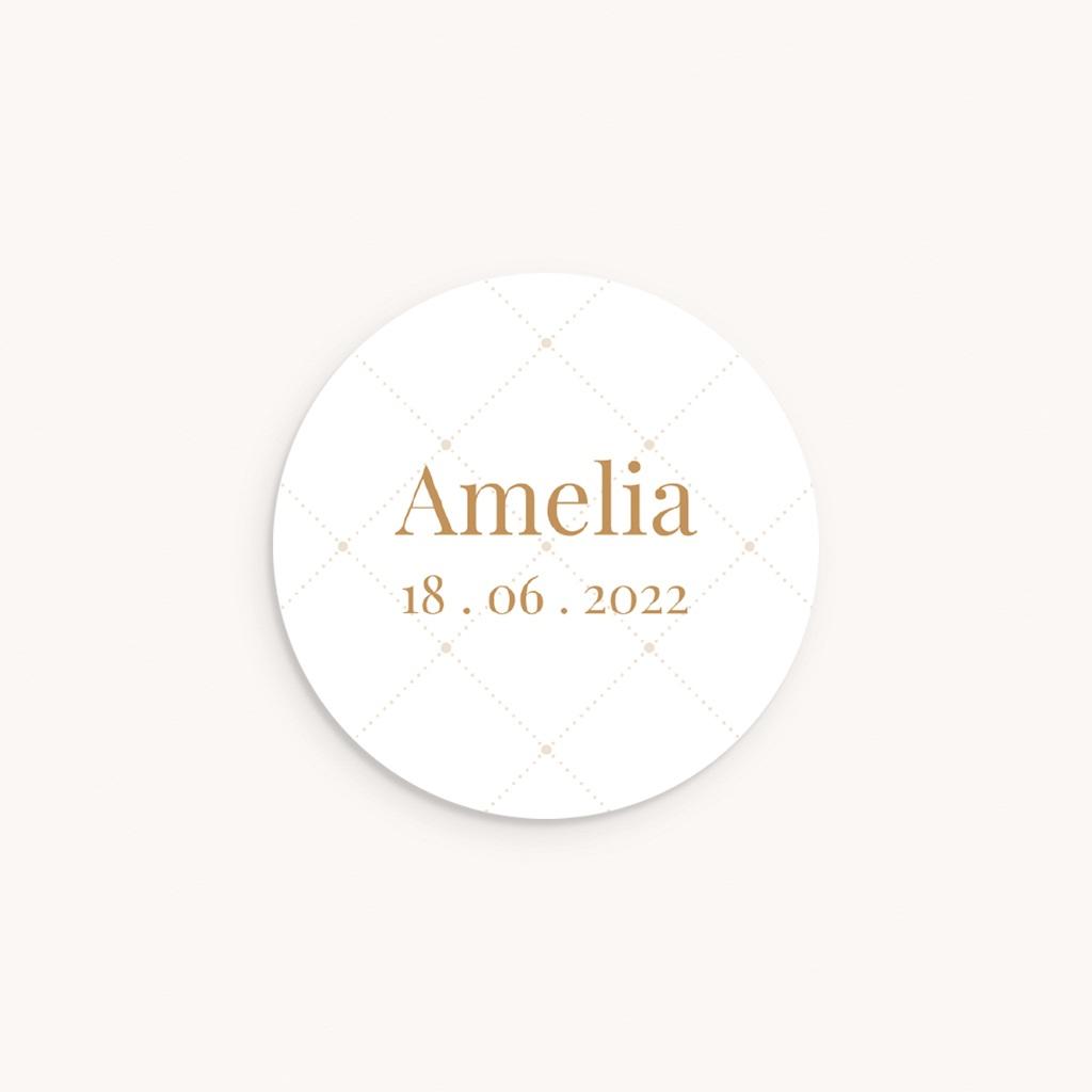 Sticker Enveloppe Naissance Motif chic, 4,5 cm
