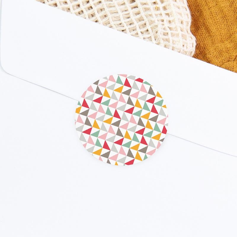 Sticker Enveloppe Naissance Motif Triangles Pastel gratuit