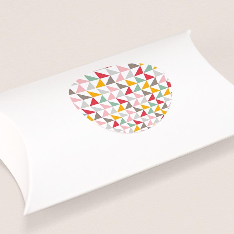 Sticker Enveloppe Naissance Motif Triangles Pastel