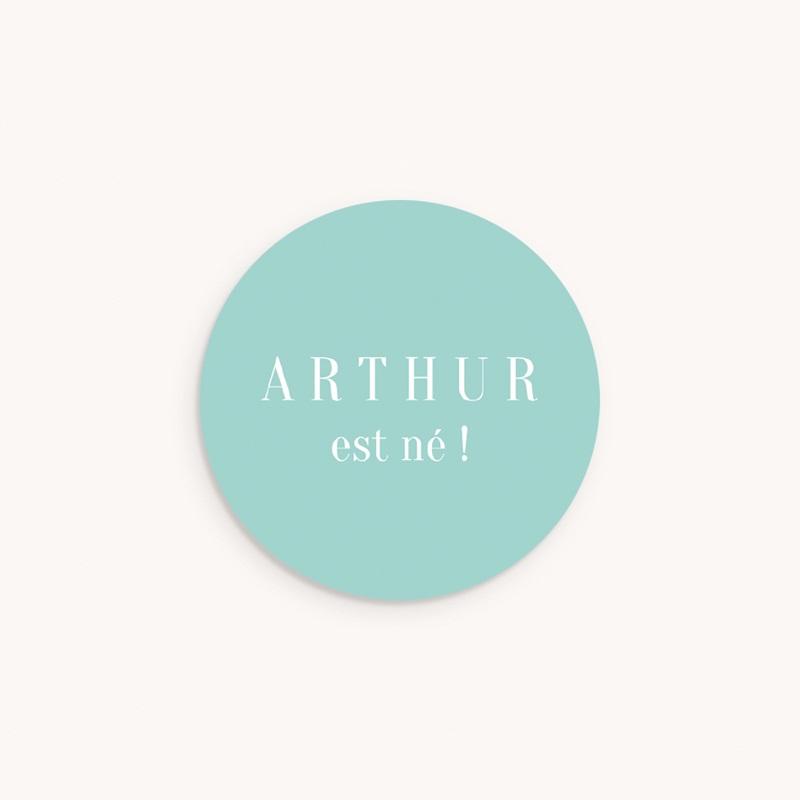 Sticker Enveloppe Naissance Photo Mania, prénom