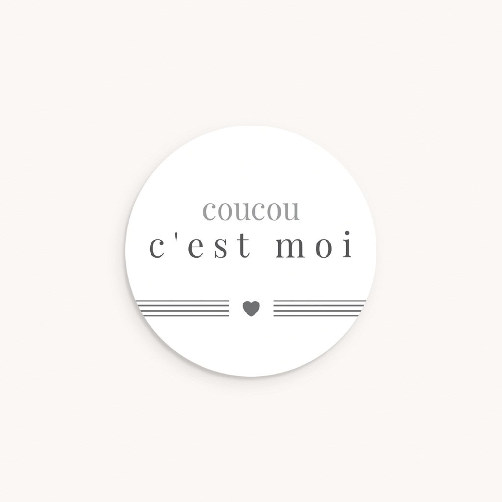 Sticker Enveloppe Naissance Smile, Coeur et traits