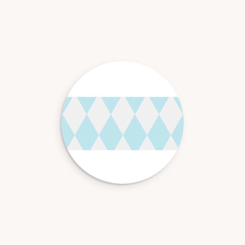 Sticker Enveloppe Baptême Noeud papillon