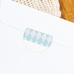 Sticker Enveloppe Baptême Noeud papillon gratuit