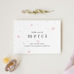 Carte de Remerciement Naissance Mon Coeur gratuit