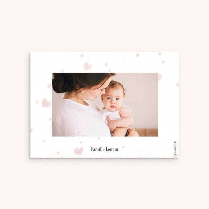 Carte de Remerciement Naissance Mon Coeur pas cher