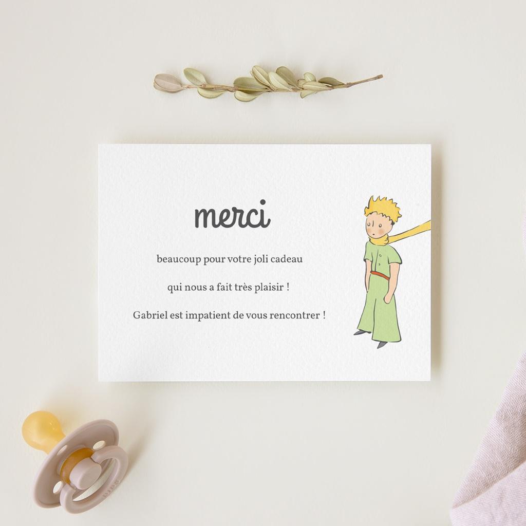 Carte de Remerciement Naissance Le Petit Prince 14