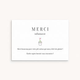 Carte de Remerciement Naissance Chou-Fleur