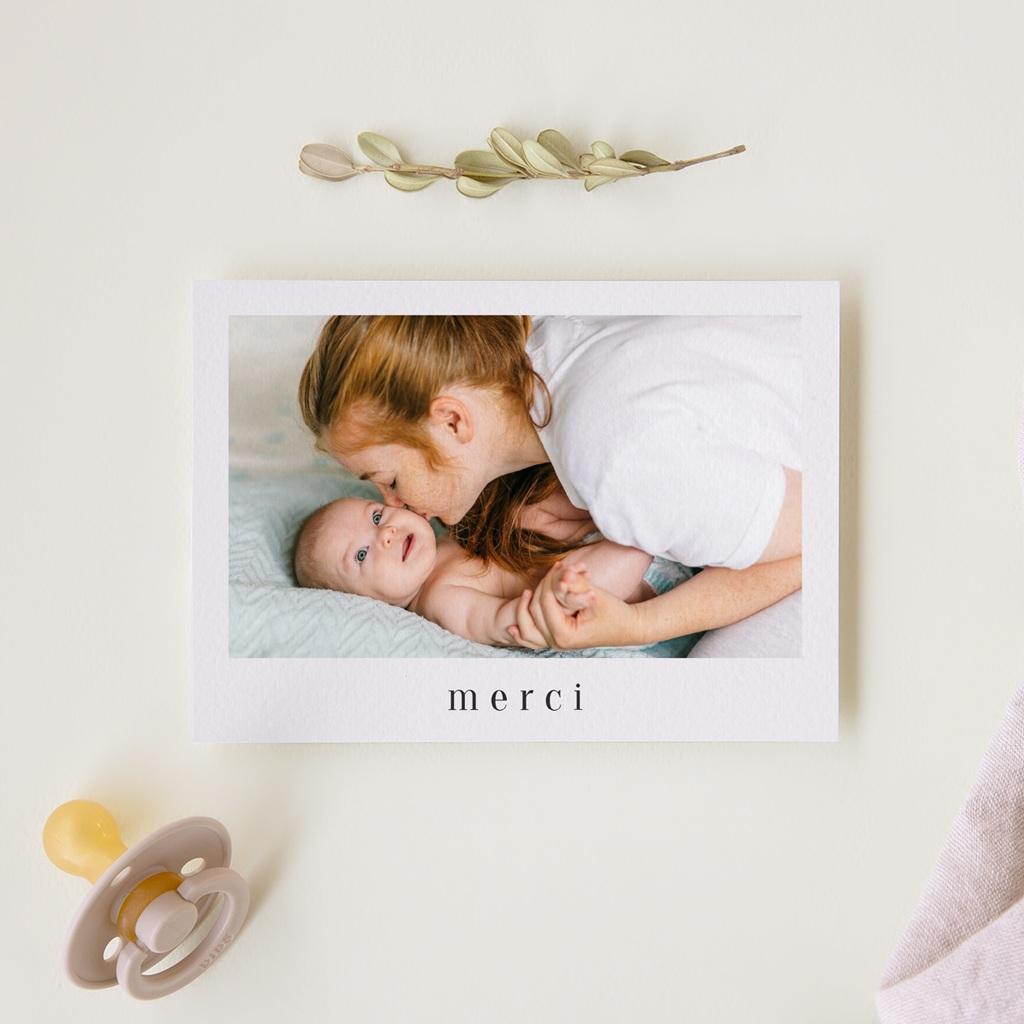 Carte de Remerciement Naissance Mensurations Bébé gratuit