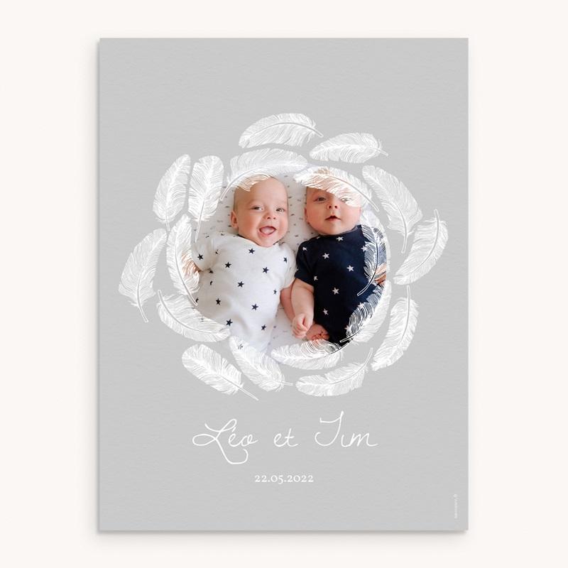 Affiche Déco Chambre Enfant Douce Plume