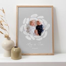 Affiche Déco Chambre Enfant Douce Plume pas cher