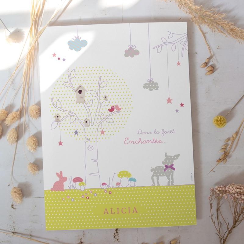 Affiche Déco Chambre Enfant Forêt enchantée gratuit