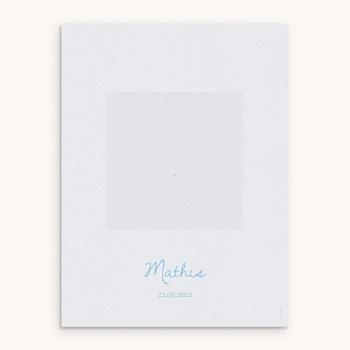 Affiche Déco Chambre Enfant Douce plume bleu personnalisé
