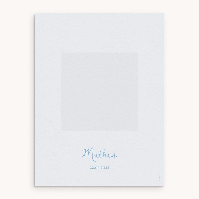 Affiche Déco Chambre Enfant Douce plume bleu