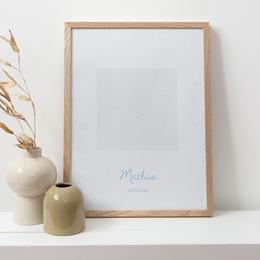 Affiche Déco Chambre Enfant Douce plume bleu pas cher