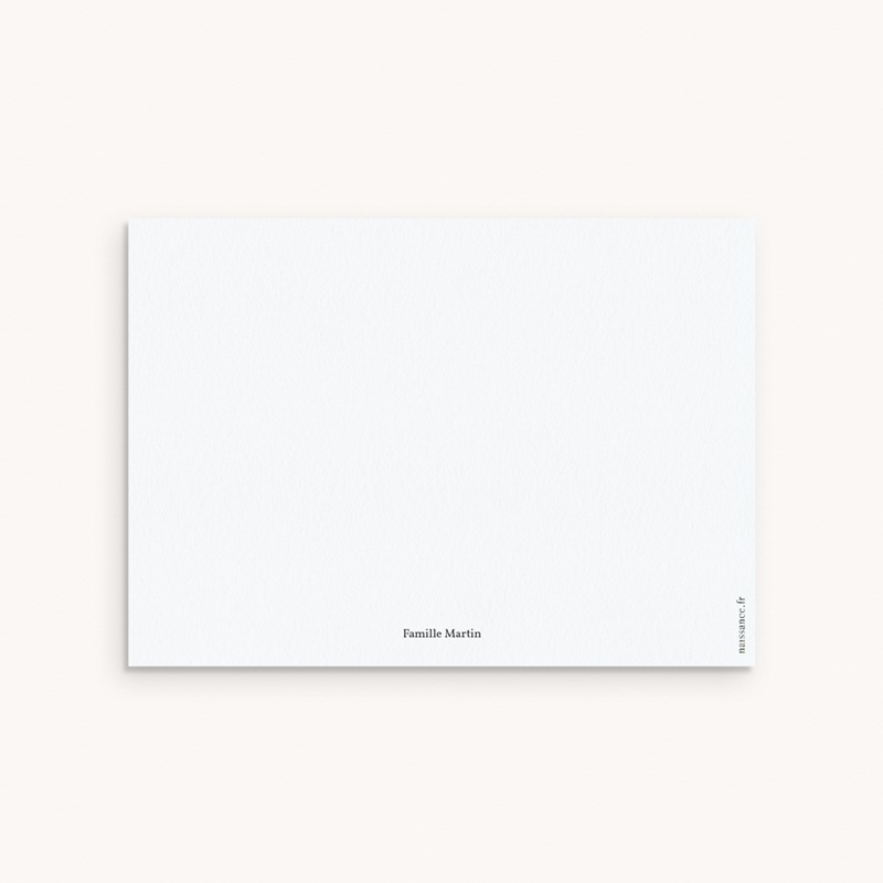 Carte de Remerciement Naissance Plume Simple pas cher