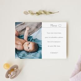 Carte de Remerciement Naissance Bébé d'Amour gratuit