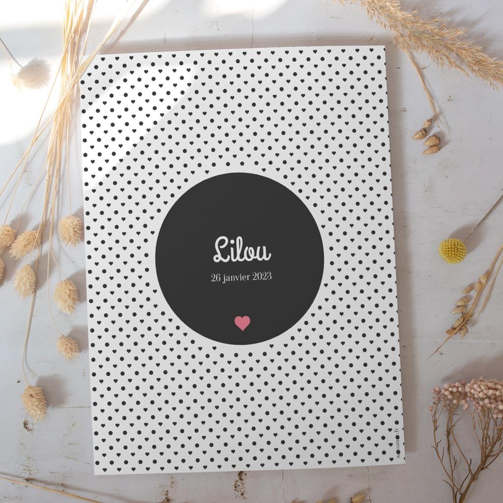 Affiche Déco Chambre Enfant Polka gratuit