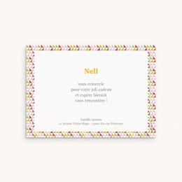 Carte de Remerciement Naissance Triangles Pastel pas cher