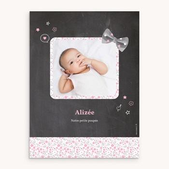 Affiche Déco Chambre Enfant Noeud fille pas cher