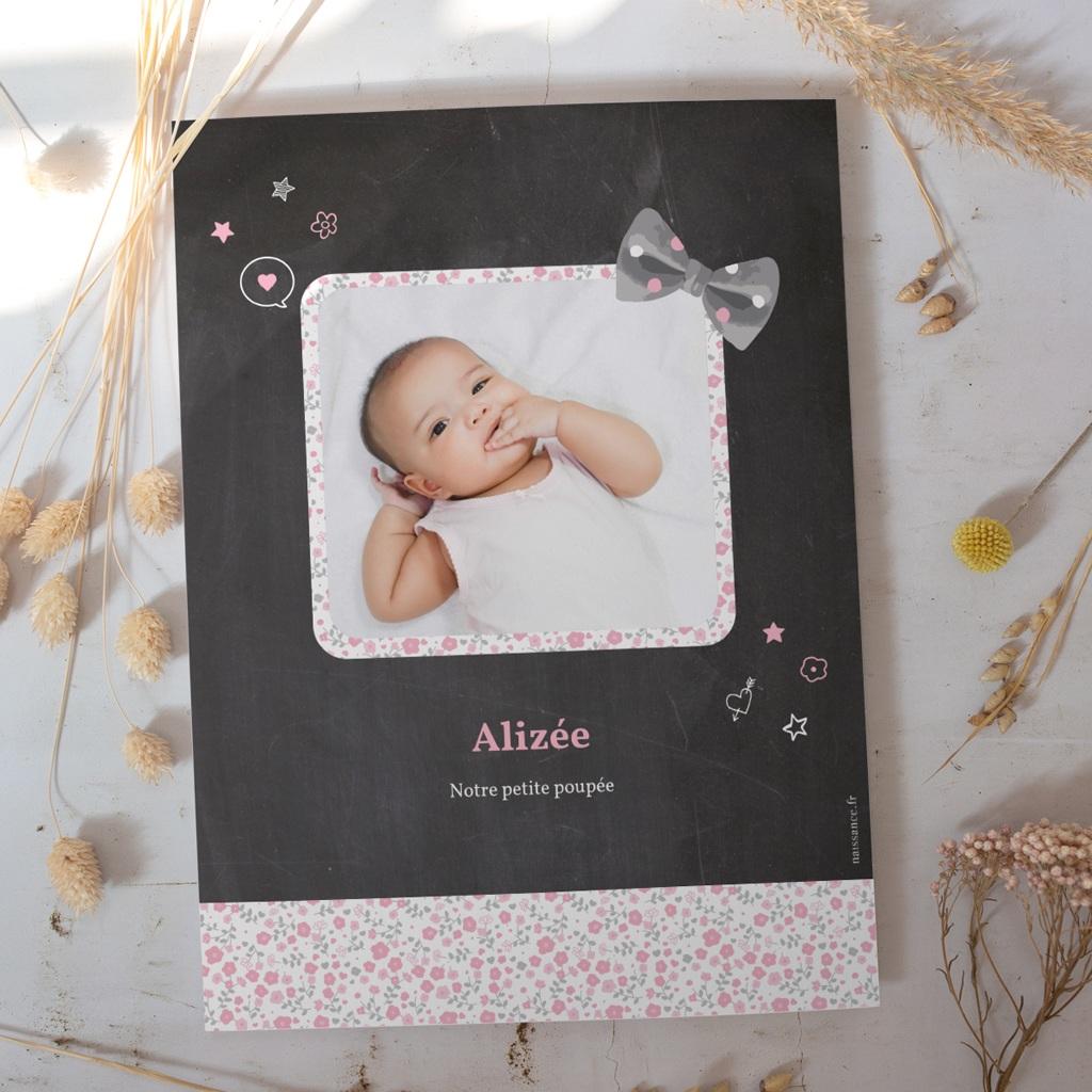 Affiche Déco Chambre Enfant Noeud fille gratuit